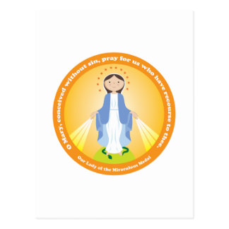 Nuestra señora de la medalla milagrosa postal
