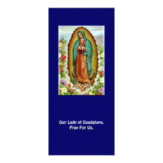 Nuestra señora de la tarjeta del rezo de Guadalupe Tarjeta Publicitaria A Todo Color