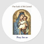Nuestra señora de los pegatinas del Mt Carmel