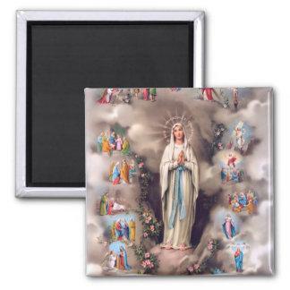Nuestra señora de Lourdes Iman Para Frigorífico