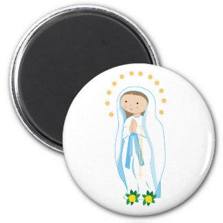 Nuestra señora de Lourdes Imán Para Frigorífico