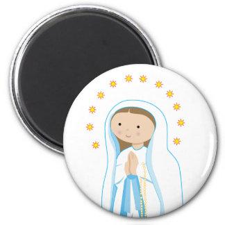 Nuestra señora de Lourdes Imán Redondo 5 Cm