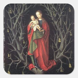 Nuestra señora del árbol seco c.1450 (aceite en el pegatina cuadrada