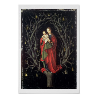 Nuestra señora del árbol seco c.1450 (aceite en el póster