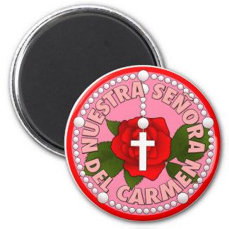 Nuestra Señora del Carmen Imán Redondo 5 Cm