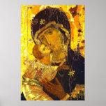 Nuestra señora del icono 24x36 del Virgen María de Póster