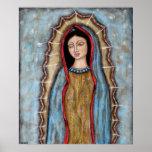 Nuestra señora del poster de Guadalupe