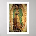 Nuestra señora del poster de Guadalupe Framable Póster