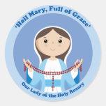 Nuestra señora del rosario etiquetas