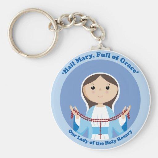 Nuestra señora del rosario llaveros personalizados