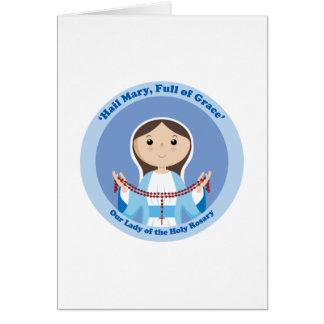 Nuestra señora del rosario tarjetas