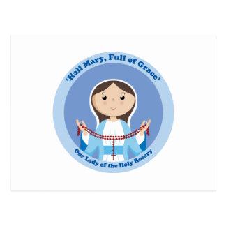 Nuestra señora del rosario tarjetas postales