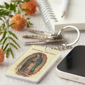 Nuestra señora del santo de Guadalupe de Américas Llavero Rectangular Acrílico A Una Cara