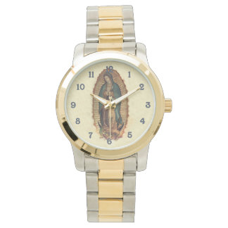 Nuestra señora del vintage 0riginal de Guadalupe Relojes De Pulsera