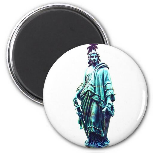 Nuestra señora Freedom Imán Redondo 5 Cm