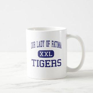 Nuestra señora Of Fátima - tigres - alta - Warren Taza Básica Blanca