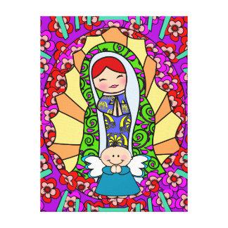 Nuestra señora Of Guadalupe, VIRGEN de GUADALUPE Impresion De Lienzo