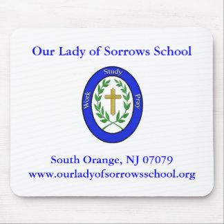 Nuestra señora Sorrows, nuestra señora de la escue Tapetes De Ratones