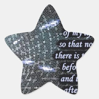 Nuestra serie continua pegatina en forma de estrella