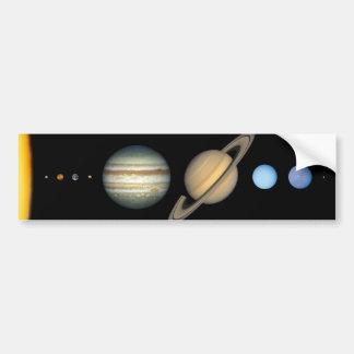 Nuestra Sistema Solar Pegatina De Parachoque