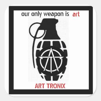 nuestra solamente arma es arte pegatina cuadrada