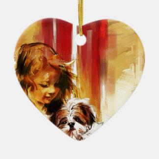 nuestra tarea adorno de cerámica en forma de corazón