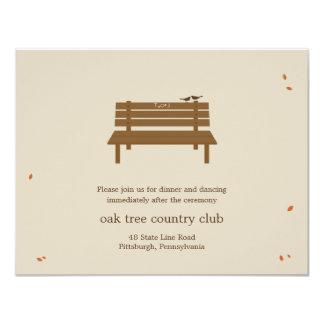 Nuestra tarjeta de la recepción nupcial del banco invitación 10,8 x 13,9 cm