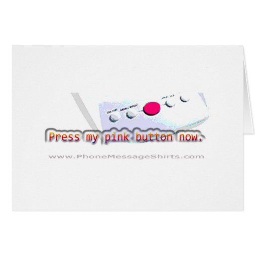 Nuestra tarjeta rosada del botón de Notorius