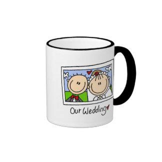 Nuestra taza del personalizable del boda