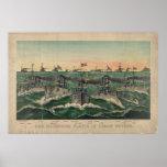 Nuestras flotas victoriosas en cubano riegan 1898 posters