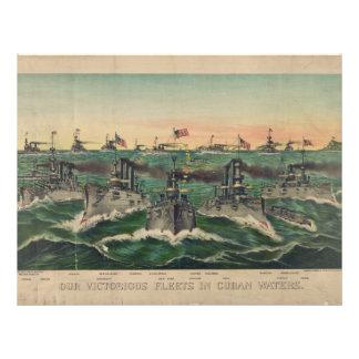 Nuestras flotas victoriosas en cubano riegan al cu membrete