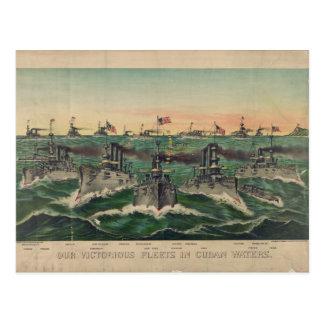 Nuestras flotas victoriosas en cubano riegan al cu postales