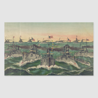 Nuestras flotas victoriosas en cubano riegan al pegatina rectangular