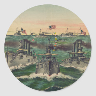 Nuestras flotas victoriosas en cubano riegan al pegatina redonda