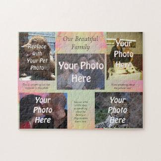 Nuestras fotos de familia hermosas rompecabezas con fotos