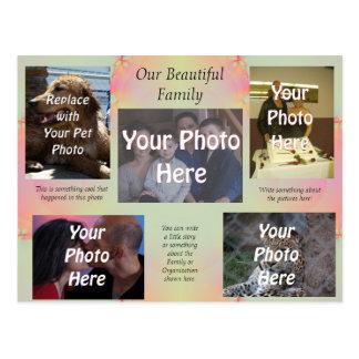 Nuestras fotos de familia hermosas tarjeta postal