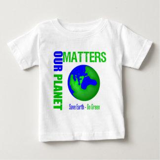 Nuestras materias del planeta ahorran la tierra playera