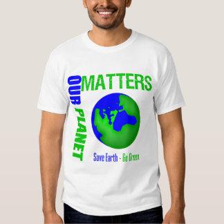 Nuestras materias del planeta ahorran la tierra remeras