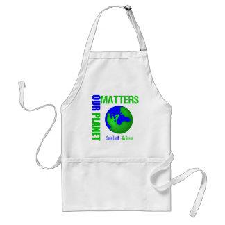 Nuestras materias del planeta ahorran la tierra va delantal