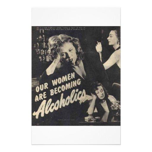 ¡Nuestras mujeres son alcohólicos que se convierte Personalized Stationery