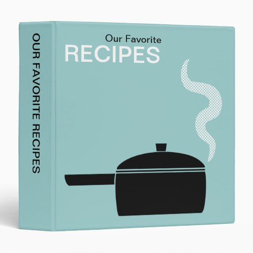 """Nuestras recetas preferidas (el 1.5in) - Lt verde Carpeta 1 1/2"""""""