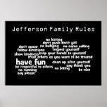 Nuestras reglas de la familia impresiones