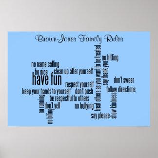 Nuestras reglas de la familia posters