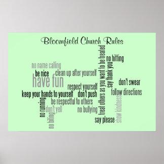 Nuestras reglas de la iglesia impresiones