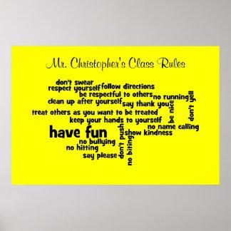 Nuestras reglas de la sala de clase de la escuela impresiones
