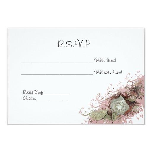 """Nuestras tarjetas de RSVP que se casan Invitación 3.5"""" X 5"""""""