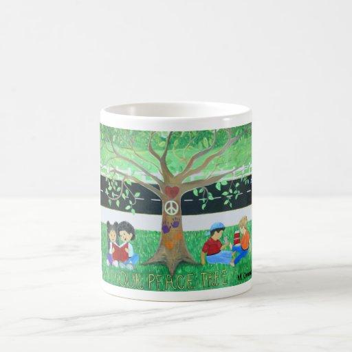Nuestras tazas del árbol de la paz