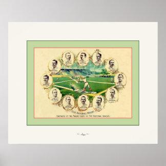 Nuestro ~ 1895 del béisbol del vintage del ~ de lo impresiones