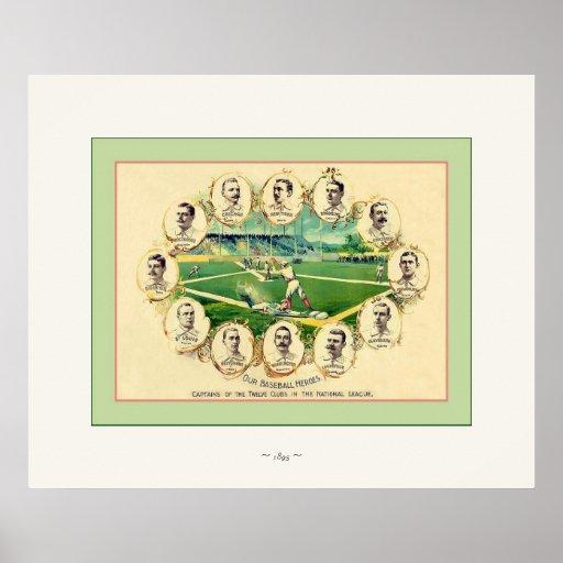 Nuestro ~ 1895 del béisbol del vintage del ~ de lo póster
