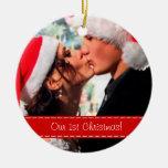 Nuestro 1r navidad - añada su foto adornos de navidad